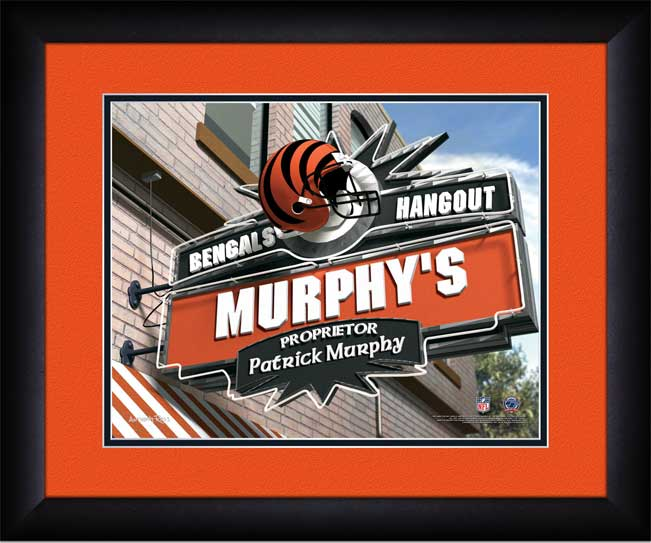 NFL - Cincinnati Bengals - Personalized Hangout Sign - Framed Picture