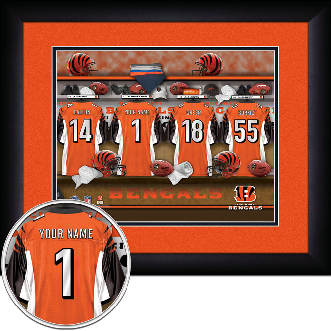 NFL - Cincinnati Bengals - Personalized Locker Room - Framed Picture