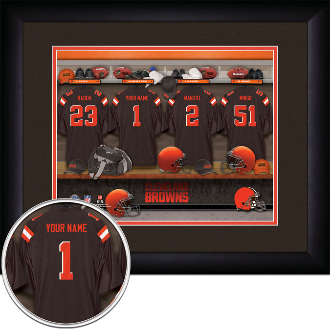 NFL - Cleveland Browns - Personalized Locker Room - Framed Picture