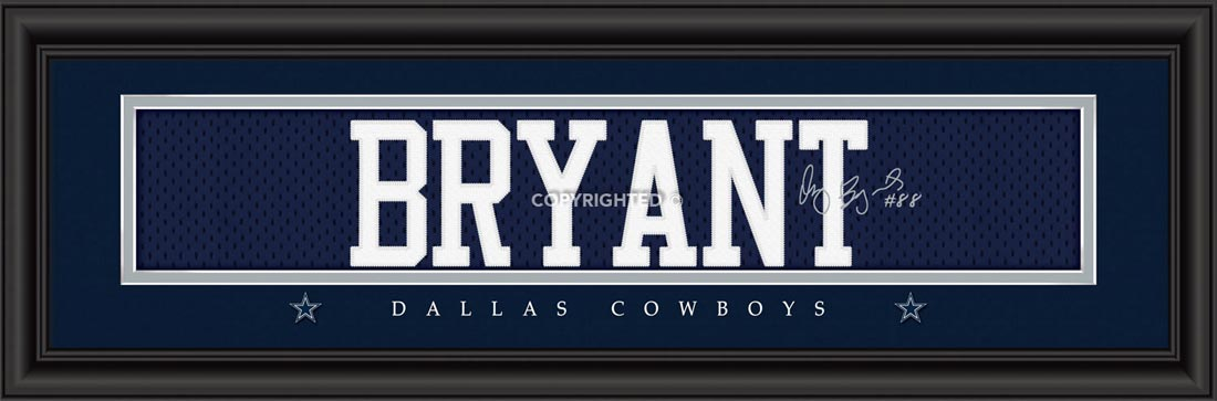 NFL - Dallas Cowboys - Signature Jersey Nameplate - Dez Bryant - Framed Picture