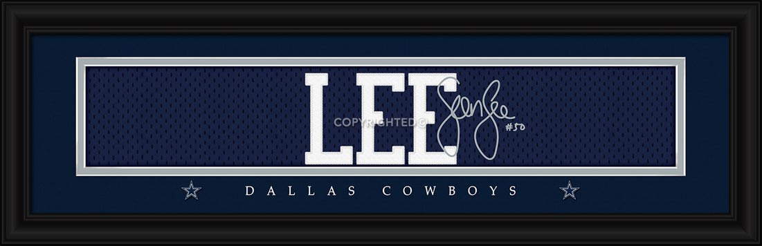 NFL - Dallas Cowboys - Signature Jersey Nameplate - Sean Lee - Framed Picture