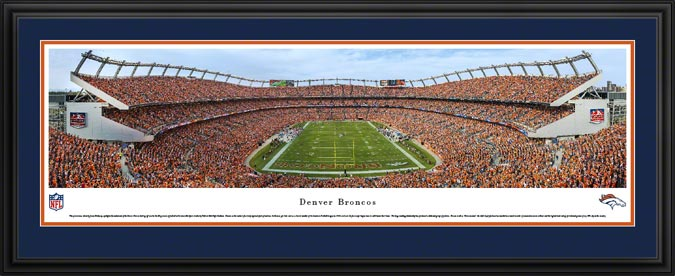 NFL - Denver Broncos - Sports Authority Field at Mile High - End Zone - Framed Picture