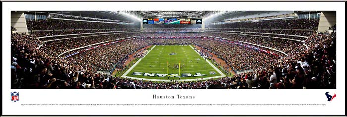 NFL - Houston Texans - Reliant Stadium - End Zone - Framed Picture