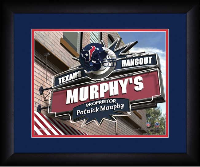 NFL - Houston Texans - Personalized Hangout Sign - Framed Picture