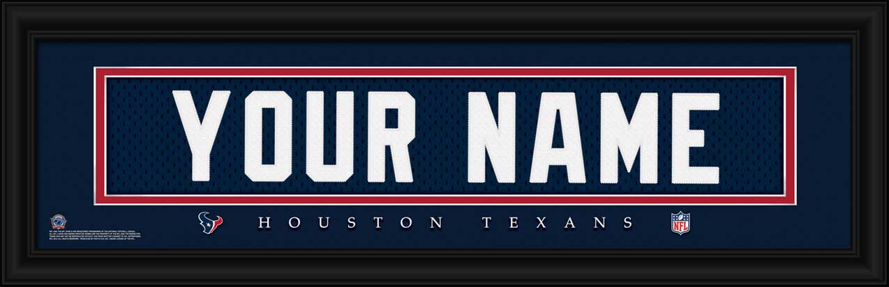 NFL - Houston Texans - Personalized Jersey Nameplate - Framed Picture