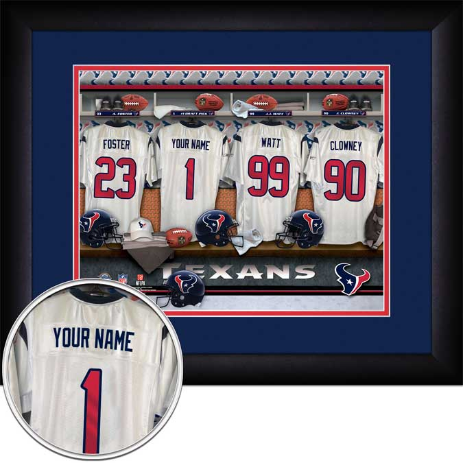 NFL - Houston Texans - Personalized Locker Room - Framed Picture