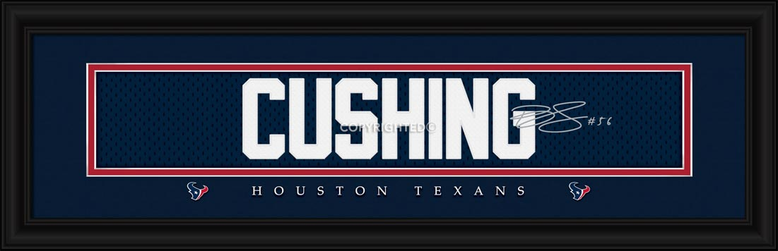 NFL - Houston Texans - Signature Jersey Nameplate - Brian Cushing - Framed Picture