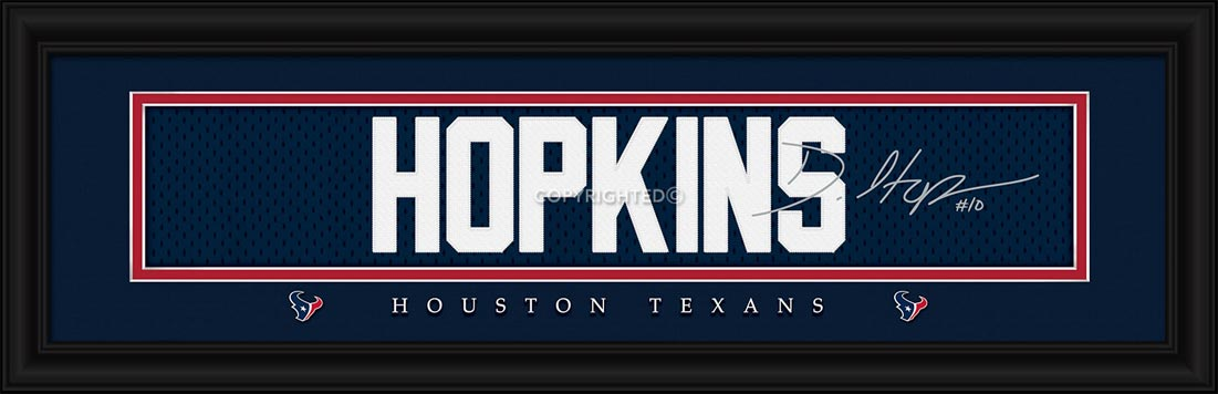 NFL - Houston Texans - Signature Jersey Nameplate - Deandre Hopkins - Framed Picture