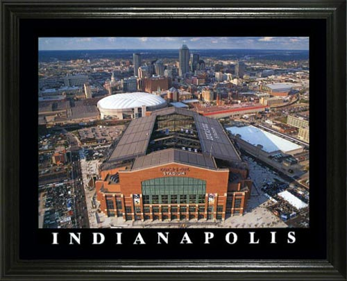 NFL - Indianapolis Colts - Lucas Oil Stadium Aerial - Lg - Framed Picture