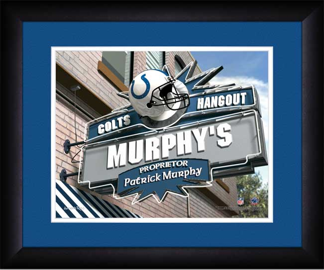 NFL - Indianapolis Colts - Personalized Hangout Sign - Framed Picture