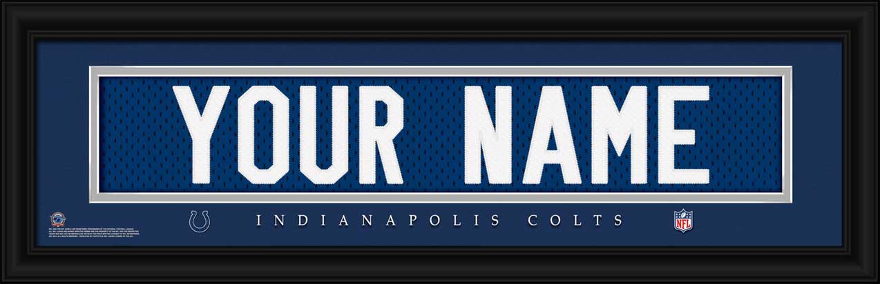 NFL - Indianapolis Colts - Personalized Jersey Nameplate - Framed Picture