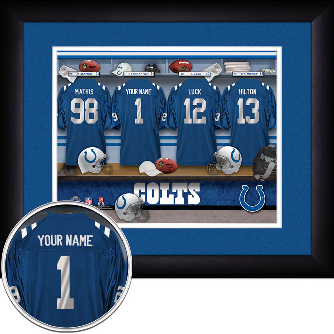 NFL - Indianapolis Colts - Personalized Locker Room - Framed Picture