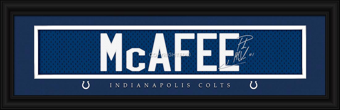 NFL - Indianapolis Colts - Signature Jersey Nameplate - Pat McAfee - Framed Picture