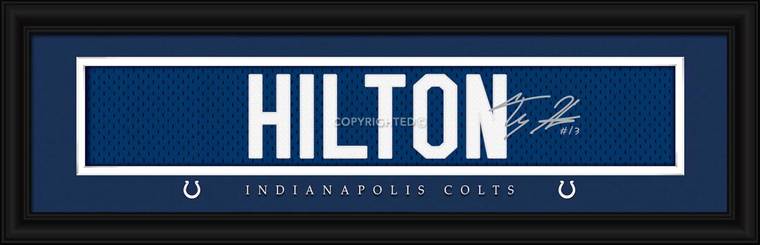 NFL - Indianapolis Colts - Signature Jersey Nameplate - T. Y. Hilton - Framed Picture