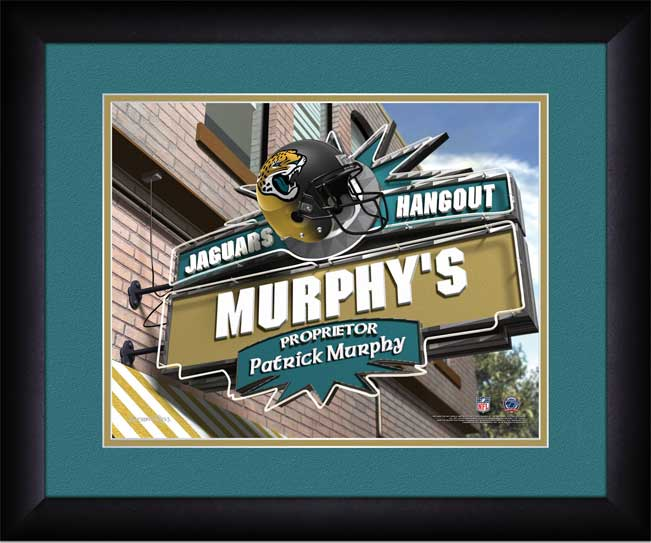 NFL - Jacksonville Jaguars - Personalized Hangout Sign - Framed Picture