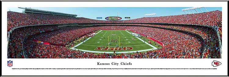 NFL - Kansas City Chiefs - Arrowhead Stadium - End Zone - Framed Picture