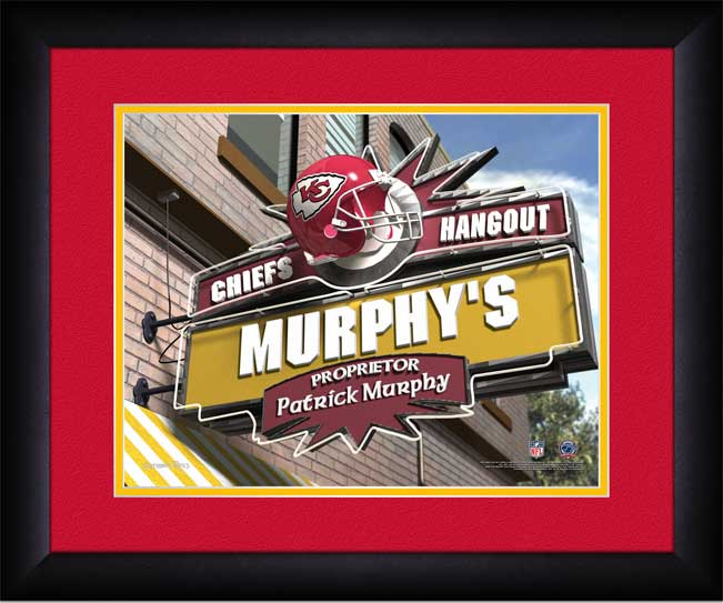 NFL - Kansas City Chiefs - Personalized Hangout Sign - Framed Picture