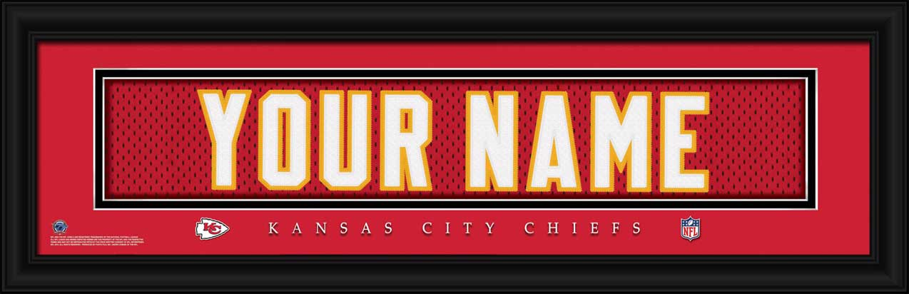 NFL - Kansas City Chiefs - Personalized Jersey Nameplate - Framed Picture