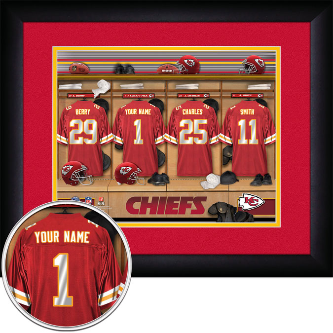 NFL - Kansas City Chiefs - Personalized Locker Room - Framed Picture