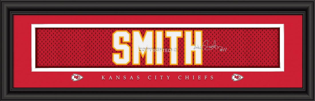NFL - Kansas City Chiefs - Signature Jersey Nameplate - Alex Smith - Framed Picture