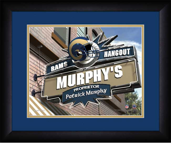 NFL - Los Angeles Rams - Personalized Hangout Sign - Framed Picture