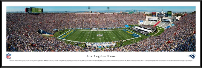 NFL - Los Angeles Rams - Los Angeles Memorial Coliseum - Framed Picture