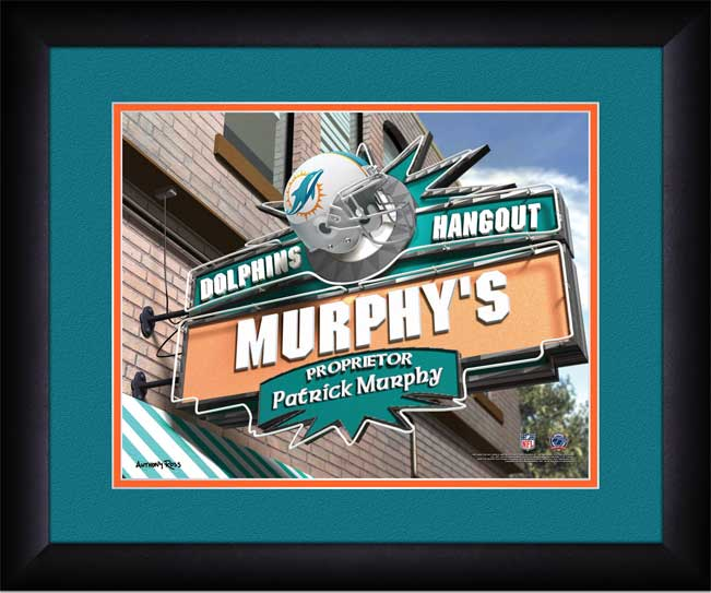 NFL - Miami Dolphins - Personalized Hangout Sign - Framed Picture