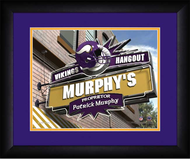 NFL - Minnesota Vikings - Personalized Hangout Sign - Framed Picture
