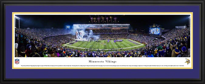 Minnesota Vikings Framed Panoramic Poster Print Tcf Bank