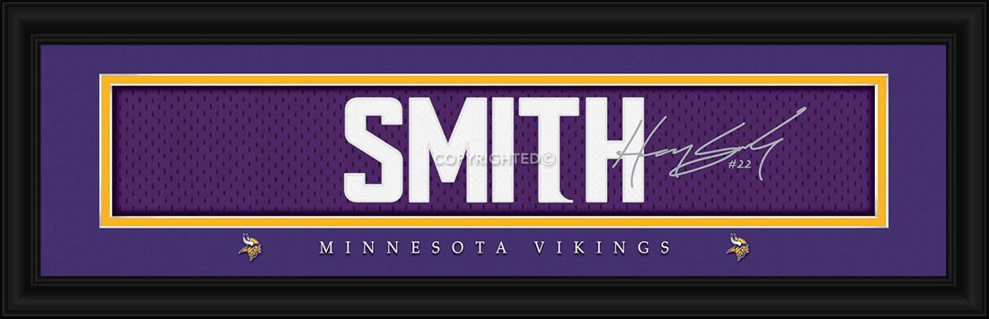 NFL - Minnesota Vikings - Signature Jersey Nameplate - Harrison Smith - Framed Picture