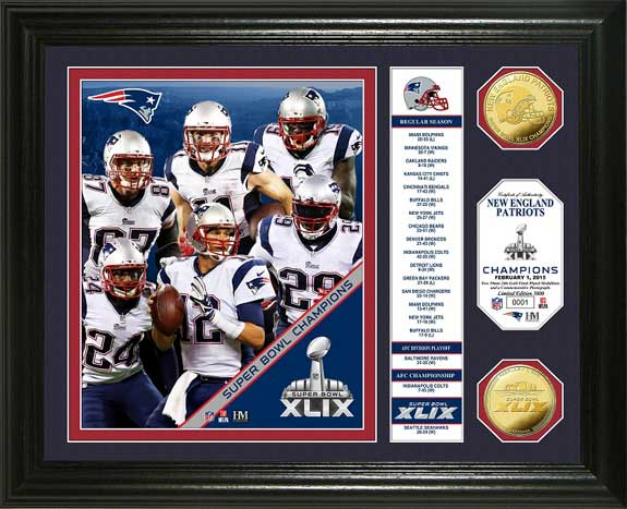 NFL - New England Patriots - Super Bowl 49 XLIX - Players - Stats - Framed Picture