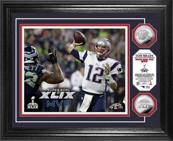 NFL - New England Patriots - Super Bowl 49 XLIX - MVP Brady - Framed Picture