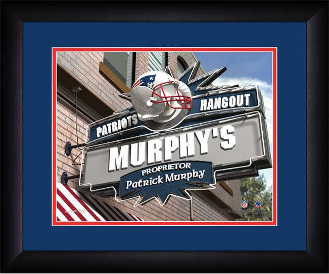 NFL - New England Patriots - Personalized Hangout Sign - Framed Picture