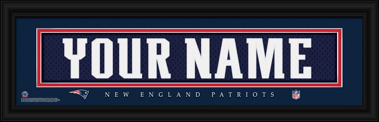 New England Patriots Framed Poster Print Personalized