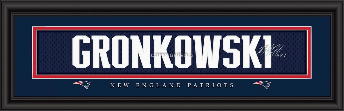 NFL - New England Patriots - Signature Jersey Nameplate - Rob Gronkowski - Framed Picture
