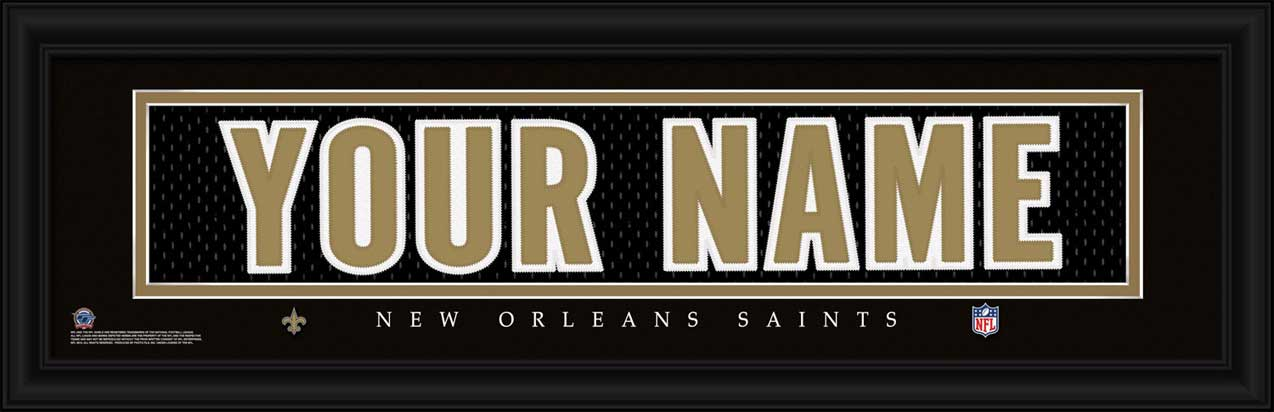 NFL - New Orleans Saints - Personalized Jersey Nameplate - Framed Picture