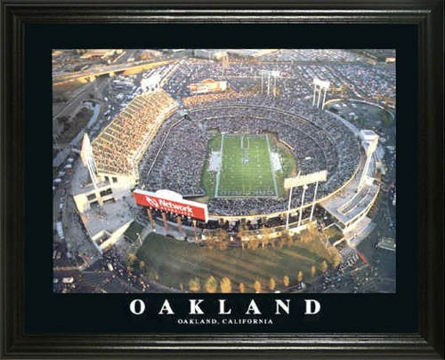 NFL - Oakland Raiders - Oakland-Alameda County Coliseum - Lg - Framed Picture