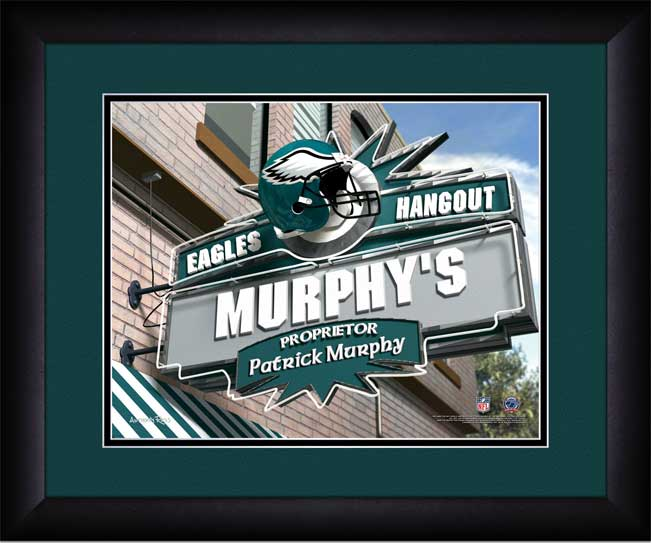 NFL - Philadelphia Eagles - Personalized Hangout Sign - Framed Picture
