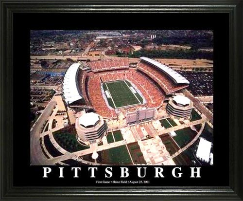 NFL - Pittsburgh Steelers - Heinz Field Aerial - Lg - Framed Picture