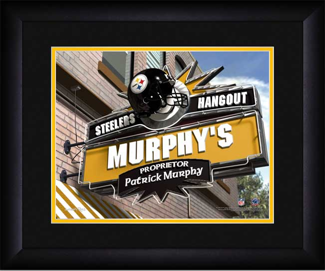 NFL - Pittsburgh Steelers - Personalized Hangout Sign - Framed Picture