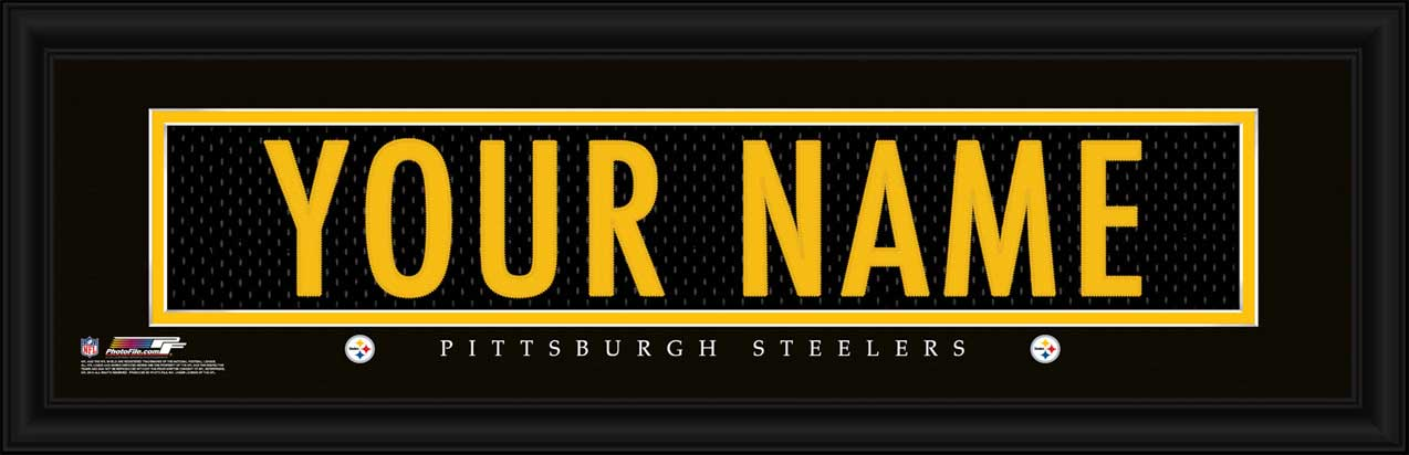 NFL - Pittsburgh Steelers - Personalized Jersey Nameplate - Framed Picture