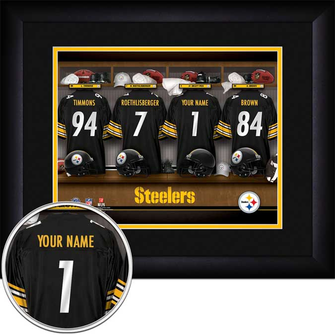 NFL - Pittsburgh Steelers - Personalized Locker Room - Framed Picture