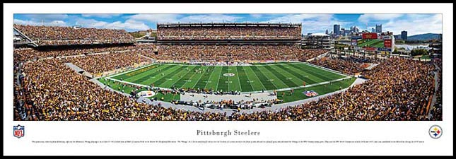 NFL - Pittsburgh Steelers - Heinz Field - Plaque Mounted & Laminated Print