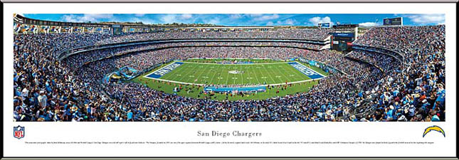 NFL - San Diego Chargers - Qualcomm Stadium - Framed Picture