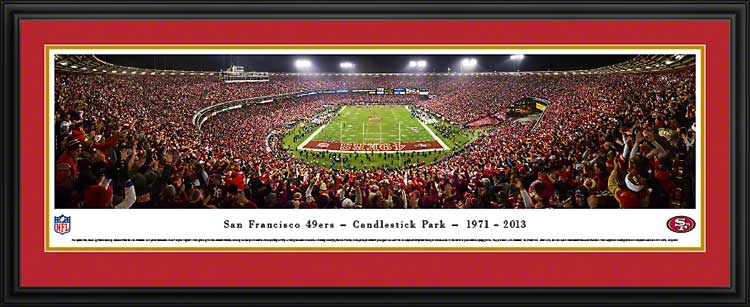 NFL - San Francisco 49ers - Candlestick Park - Final Game 2013 - Framed Picture