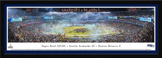 NFL - Seattle Seahawks - Super Bowl 48 XLVIII - Framed Picture