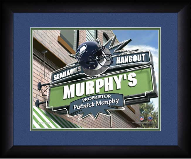 NFL - Seattle Seahawks - Personalized Hangout Sign - Framed Picture
