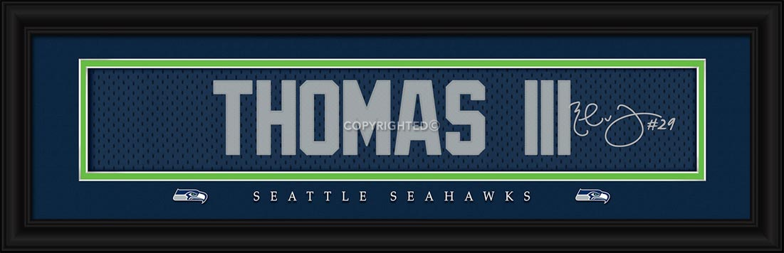 NFL - Seattle Seahawks - Signature Jersey Nameplate - Earl Thomas III - Framed Picture