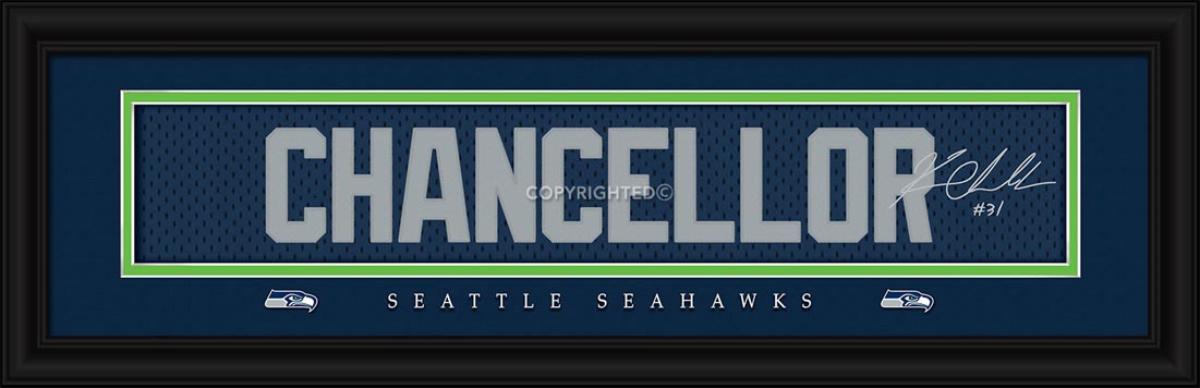 NFL - Seattle Seahawks - Signature Jersey Nameplate - Kam Chancellor - Framed Picture