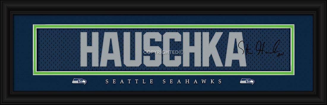 NFL - Seattle Seahawks - Signature Jersey Nameplate - Steven Hauschka - Framed Picture